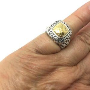 John Hardy sterling silver 22k Palu ring